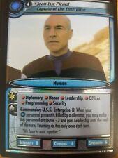 Star Trek CCG Dangerous Missions 9R12 Jean-Luc Picard Captain Enterprise FOIL