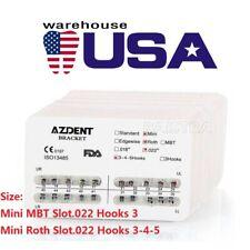 Dental Orthodontic Brackets Braces Mini Roth Mbtroth Slot 0022 33 4 5 Hook Us