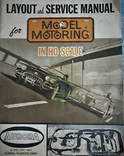 Aurora Model Motoring Vibrator Vintage Layout and Service Manual Used