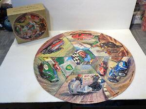 "Vintage 1967 Springbok 20⅜"" Diameter Motor and Cycle Racing Jigsaw Puzzle!"