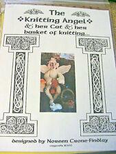 Knit Angel~Cat~Basket Of Knits~Noreen Crone-Findlay *2000 Knit art doll pattern