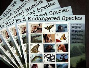 US Scott 3105  32c Endangered Species  6 Sheets WHOLESALE