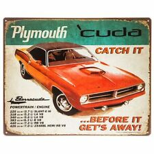 Vintage Replica Tin Metal Signs Plymouth Cuda Mopar motor hemi 340 383 440 426