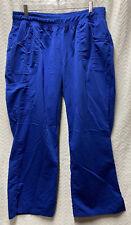 Scrubstar Premium Electric Blue Size Xl Petite Scrub Pants