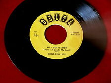 GENE PHILLIPS~ HEY BARTENDER~ MAD MIKE SOUND~ PROMO~ BROWN WAX ~ R&B 45