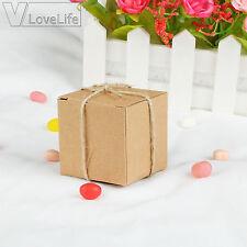 10pcs Wedding Candy Boxes Kraft Boxes Party Favors Box Gift Box Bags Decor