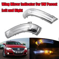 L & R LED Smoked Wing Mirror Indicator Light For VW Golf MK5 Jetta III Passat B6
