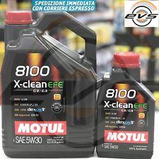 6 Litri Olio Motore MOTUL 8100 X-CLEAN 5W30 EFE C2 C3 SINTET FIAT 9.55535-S1/S3