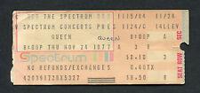 1977 Queen concert ticket stub Spectrum Philadelphia News Of The World Tour