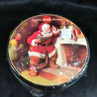Coca Cola Collectors Tin Santa Claus Sugar Cookies