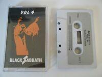 BLACK SABBATH VOL 4 CASSETTE TAPE 1976 GREY PAPER LABEL NEMS IRELAND