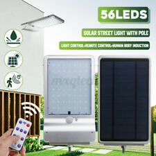 56 LED Solar Street Wall Light Lamp PIR Motion Outdoor Remote Control Waterproof