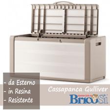 Baule Cassapanca Gulliver Box Contenitore in Plastica Resina da Esterno Giardino
