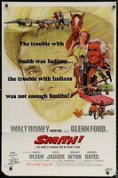 Walt Disney SMITH! Glenn Ford ORIGINAL 1969  MOVIE POSTER 27 x 41