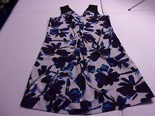 Simply Vera Wang Womens 6 Abstract Print Sleeveless Short V-Neck Dress