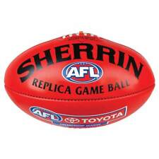 Sherrin PVC AFL Replica Red Game Ball Football Mini 20cm