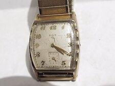 Vintage ELGIN 17 Jewel Adj Wind Men's Wrist Watch 683 runs 10 K RGP no crown