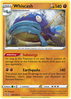 Whiscash 100/192 Rare Non Holo, Pokemon TCG Sword and Shield Rebel Clash