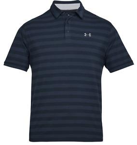 Under Armour * UA Scramble Stripe Golf Polo Shirt Blue for Men