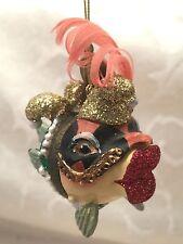Katherine's Collection Kissing Fish Christmas Ornament Mardi Gras Jester Big Lip