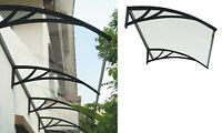 pensilina supporto in resina nera cm 80x120 copertura tettoia esterno