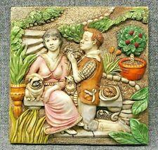 Harmony Kingdom Picturesque Love's Labours Byron'S Garden Tile Plaque Pxgd3