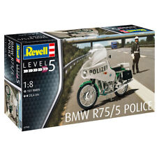 Revell 07940 BMW R75/5 Police Motorcycle Model Kit (Level 5) (Scale 1:8)