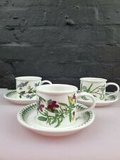 More details for 3 x portmeirion botanic garden drum cups and saucers set