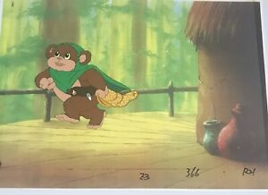 EWOKS STAR WARS  Original Animation Production Art Cel Nelvana