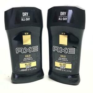 2 Count Axe 3 Oz Gold Oud Wood & Dark Vanilla All Day Fresh Protection Deodorant