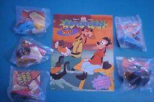Burger King 1995 - The Goofy Movie - Complete Set of 5 MIP plus Brochure