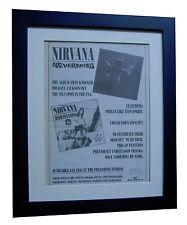 NIRVANA+Nevermind+POSTER+AD+ORIGINAL 1992+TOP QUALITY FRAMED+EXPRESS+GLOBAL SHIP