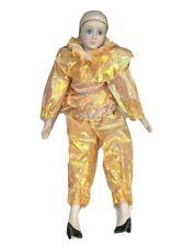 Vintage Pierrot Porcelain Clown Doll Peach Shimmer Heels