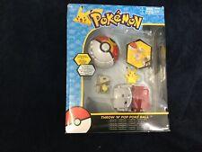 Pokemon Throw 'n' Pop Pokeball Pikachu  Poke Ball / CuboneRepeat Ball Figure Set