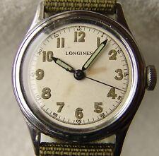 33.5mm GOOD CONDITION men's WWII era LONGINES PILOT military WRISTWATCH 1940