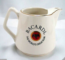 BACARDI  Rum Pub Jug Liquor Advertising Water Pitcher-