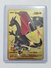 Pokemon Charizard V 79 Secret Rare Full Art Gold Metal Custom Card Hard Metal
