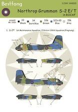 Bestfong Decal 1/144 Northrop Gruman S-2E/T R.O.C. (Taiwan) AF