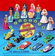 1994 McDonalds Barbie MIP Complete Set - Lot of 8, Girls, 3+