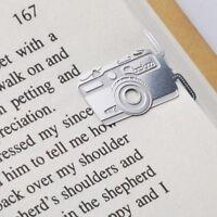 mini metal CAMERA girl's summer bookmark silver color for gift korean fashion