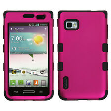 T-Mobile LG Optimus F3 MS659 Rubber IMPACT TUFF HYBRID Skin Case Phone Cover