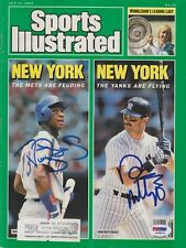 DON MATTINGLY Yankees & DARRYL STRAWBERRY Mets Signed SPORTS ILLUSTRATED PSA/DNA