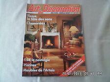 ART ET DECORATION N°315 1-2/1993 TSF LA NOSTALGIE PISCINES MEUBLES ARTOIS    D57
