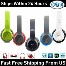 Wireless Bluetooth Headphones Noise Cancelling Over-Ear Stereo Earphones Headset