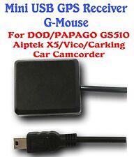 Mini USB GPS Receiver G-Mouse 4 DOD DVR/PAPAGO Gosafe 510/Aiptek X5/Vico/CarKing