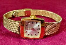 Vtg Women's TIMEX Gold Tone Silver Dial Mechanical Watch Runs NICE
