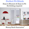 Perfect Fit blinds Ideal for CONSERVATORY WINDOWS AND DOORS NO DRILLING EASY FIT