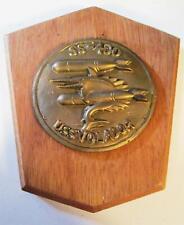 Vintage Brass on wood US Navy Submarine USS Volador Plaque SS-40
