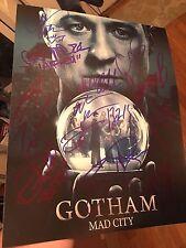 GOTHAM CAST SIGNED 11X14 PHOTO BEN MCKENZIE AUTOGRAPH! MAGGIE GEHA! PSA DNA!