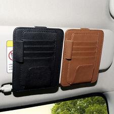 Car Sun Visor Pocket Organizer Pouch Bag Card Pen Glasses Storage Holder Black